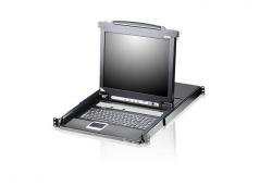 CL5716FM-ATA-RG  16-портовый, PS/2, USB, VGA KVMP-переключатель с LCD-дисплеем, клавиатурой, тачпадом и Сканером отпечатков пальцев