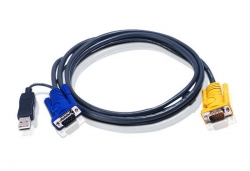 2L-5203UP — КВМ-кабель со встроенным конвертером интерфейса PS/2-USB и разъемом SPHD 3-в-1 (3м)