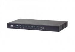 PE6208AV — 16A 8-розеточное PDU с возможностью удаленного контроля на уровне банка розеток и управления питанием, дистанционное по сети  и локально (включение, выключение, перезагрузка (цикл питания)), на уровне отдельных розеток и группы розеток.