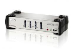 CS1734B-A7-G 4-портовый VGA PS/2 USB  KVMP-переключатель с OSD меню