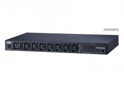 PE6208G-AX-G — 16A 8-розеточное PDU с возможностью удаленного контроля на уровне банка розеток и управления питанием, дистанционное по сети (включение, выключение, перезагрузка (цикл питания)), на уровне отдельных розеток и группы розеток.