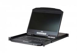 CL3116 — 16-портовый КВМ-переключатель укороченной глубины, Single Rail, с широкоэкранным ЖК-дисплеем и интерфейсами PS/2-USB, VGA