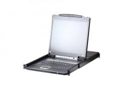 """CL5708IN-ATA-RG — 8-портовый, PS/2, USB, VGA, КВМ-переключатель с ЖК дисплеем 19"""", доступом по IP, c  поддержкой USB-периферии"""