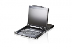 """CL5800N-ATA-RG — KVM консоль с интерфейсами PS/2, USB, VGA, с 19""""  ЖК-дисплеем и поддержкой USB-периферии  ."""