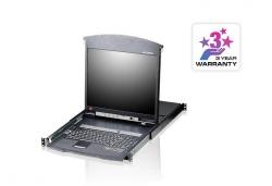 KL1508AM-AXA-RG 8-и портовый Dual Rail ЖК KVM-переключатель с высокой плотностью монтажа и подключением по кабельной системе Cat5