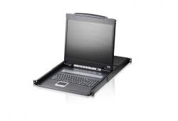 CL1308N-ATA-RG 8-портовый, PS/2, VGA, КВМ-переключатель (KVM switch) с ЖК дисплеем