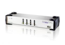 CS1744C-AT 4-портовый VGA USB audio KVM-переключатель.