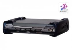 KE6920R-AX-G—  2K DVI-D Dual Link KVM-удлинитель с доступом по IP и двумя слотами SFP (приемник)