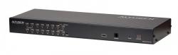 KH1516A-AX-G — 16-портовый КВМ-переключатель с подключением устройств по кабелю Cat 5