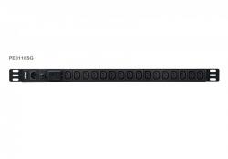 PE0116SG — 0U базовый 16 розеточный блок распределения питания (PDU)с защитой от перегрузок