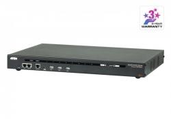 SN0108CO-AX-G — 8-ми портовый консольный сервер с двумя блоками питания и двумя сетевыми картами, обеспечивающий удаленный доступ по IP к 8 последовательным портам устройств