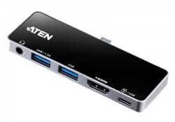 UH3238 — Сверхпортативная док-станция с портом USB-C и функцией сквозной передачи питания (Power Pass-Through)